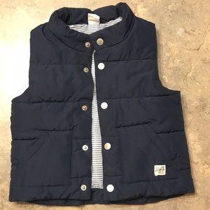 Baby boy navy puffer vest 12-18 months